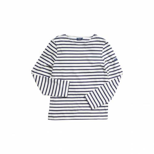 SAINT JAMES メンズファッション トップス Tシャツ カットソー レディース 【 Minquiers Moderne Striped Sailor Shirt 】 Ecru/marine