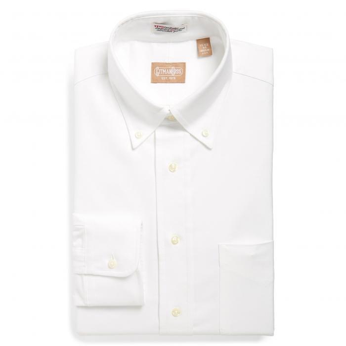GITMAN オックスフォード ドレス メンズファッション トップス ワイシャツ メンズ 【 Cambridge Oxford Regular Fit Dress Shirt 】 White
