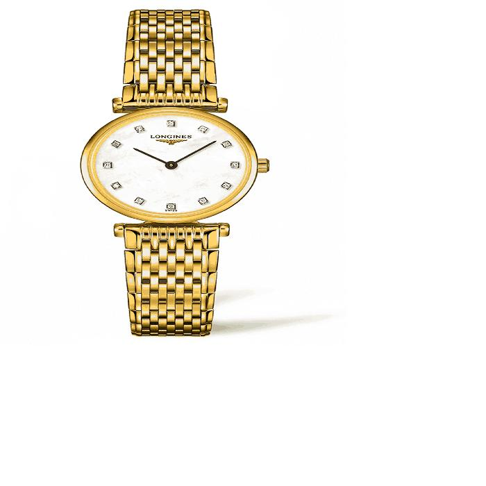【海外限定】ダイヤモンド ブレスレット WATCH, レディース腕時計 腕時計 【 LA GRANDE CLASSIQUE DE LONGINES DIAMOND BRACELET 24MM 】