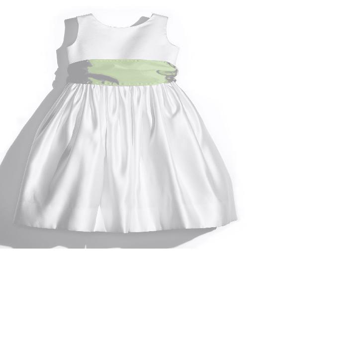 【海外限定】白 ホワイト タンクトップ ドレス サテン キッズ ベビー 【 WHITE TANK DRESS WITH SATIN SASH 】