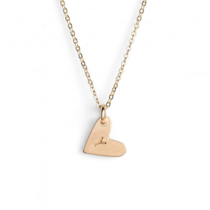 NASHELLE 【 14KGOLD FILL INITIAL MINI HEART PENDANT NECKLACE GOLD Y 】 ジュエリー アクセサリー レディースジュエリー ネックレス 送料無料