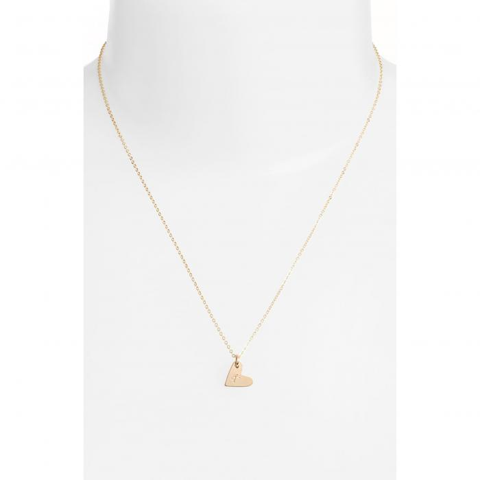 NASHELLE 【 14KGOLD FILL INITIAL MINI HEART PENDANT NECKLACE GOLD K 】 ジュエリー アクセサリー レディースジュエリー ネックレス 送料無料