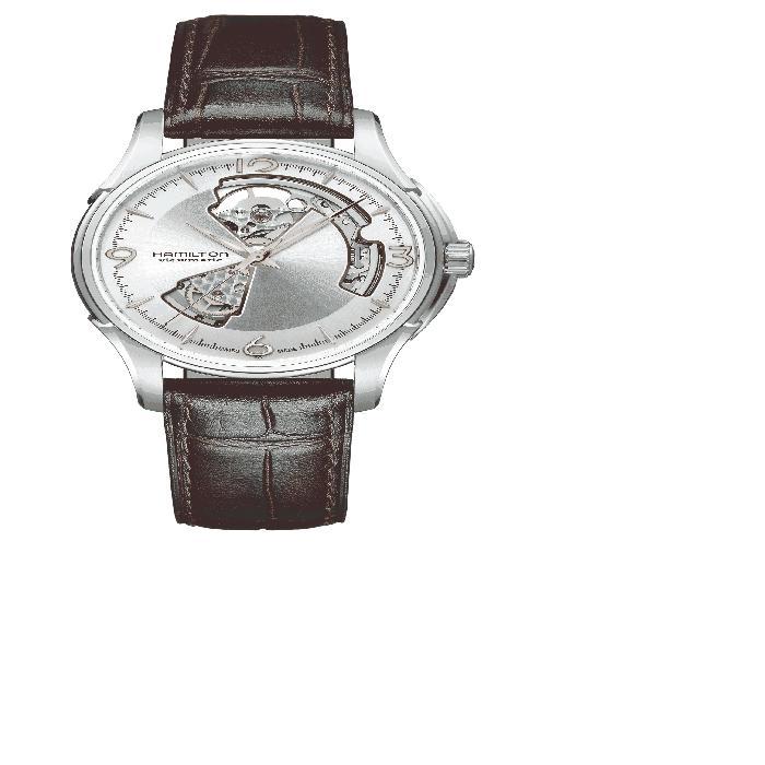 【海外限定】レザー ストラップ WATCH, 腕時計 レディース腕時計 【 JAZZMASTER OPEN HEART AUTOMATIC LEATHER STRAP 40MM 】