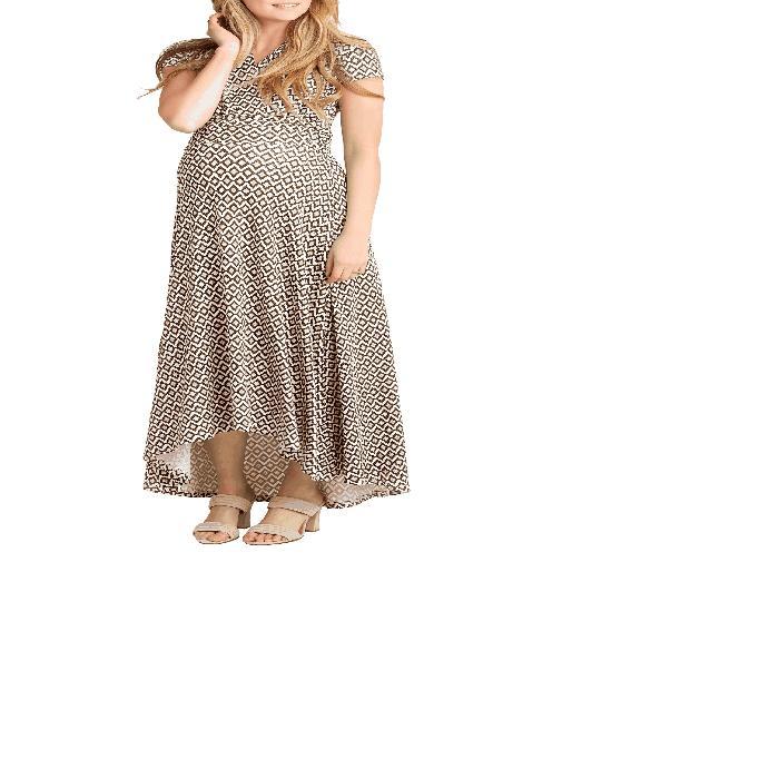 【海外限定】ドレス 'CAROLINE' マタニティウエア 授乳服 【 MATERNITY NURSING MAXI DRESS 】【送料無料】