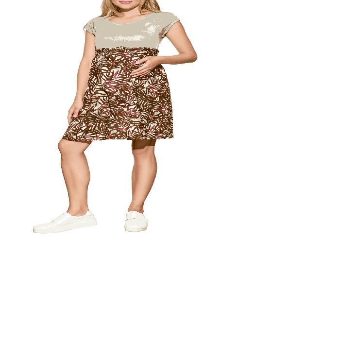【海外限定】ドレス ママ ベビー 【 TIE FRONT MATERNITY DRESS 】