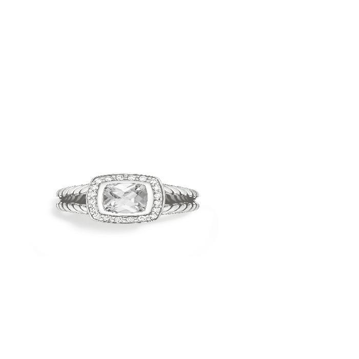 【海外限定】'ALBION' & ジュエリー アクセサリー 【 PETITE RING WITH SEMIPRECIOUS STONE DIAMONDS 】【送料無料】