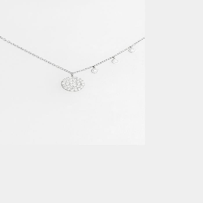 【海外限定】ダイヤモンド ネックレス レディースジュエリー 【 DAZZLING DIAMOND DISC PENDANT NECKLACE 】