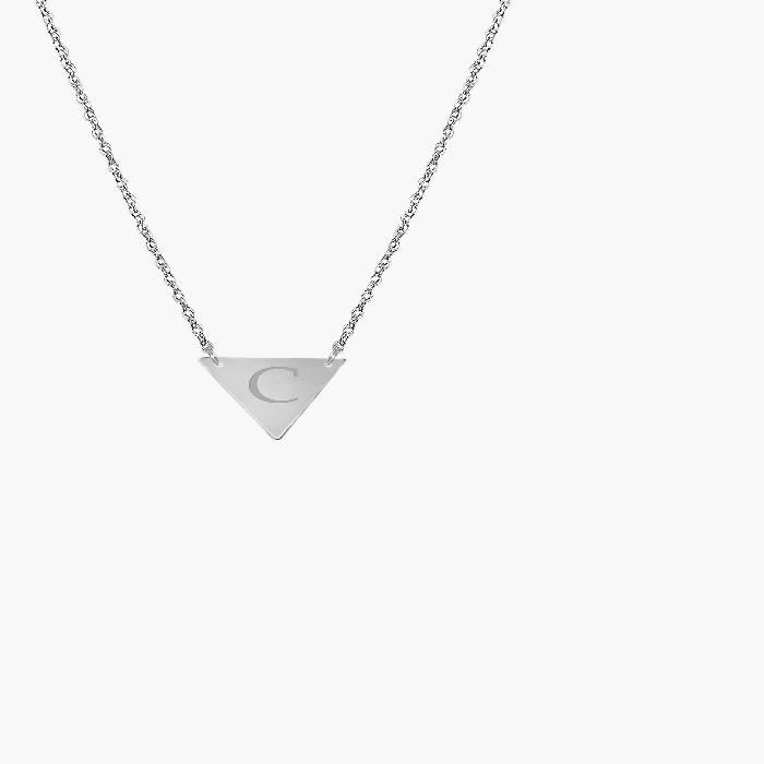 JANE BASCH DESIGNS 【 PERSONALIZED INITIAL PENDANT NECKLACE SILVER C 】 ジュエリー アクセサリー レディースジュエリー ネックレス 送料無料