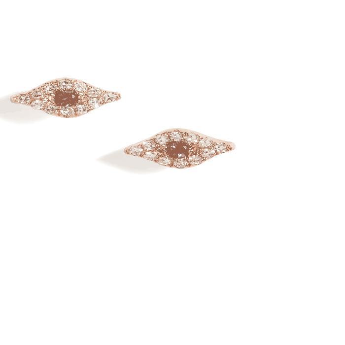 【海外限定】ダイヤモンド & レディースジュエリー イヤリング 【 EVIL EYE DIAMOND SAPPHIRE STUD EARRINGS 】