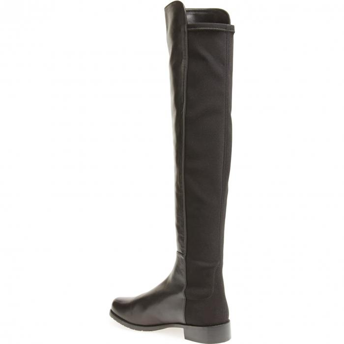 STUART WEITZMAN レザー ブーツ レディース 【 5050 Over The Knee Leather Boot 】 Black Nappa