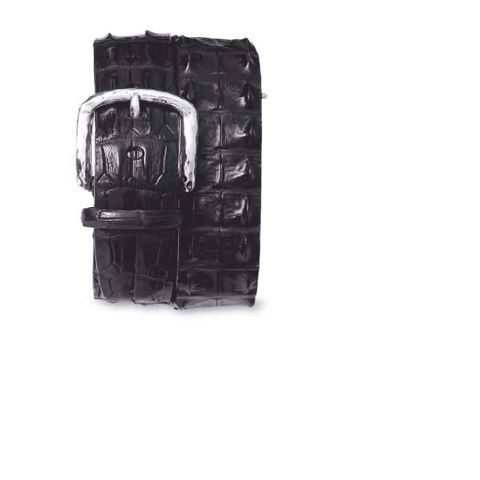 【海外限定】クロコダイル レザー ベルト サスペンダー 小物 【 HORNBACK CROCODILE LEATHER BELT 】