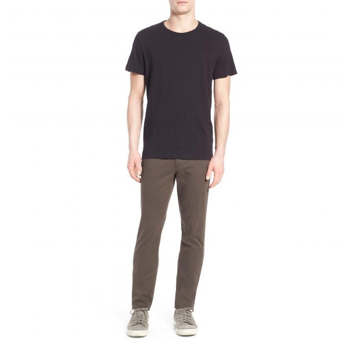 VINCE スリム Tシャツ メンズファッション トップス カットソー メンズ 【 Slub Slim Fit Crewneck T-shirt 】 Black