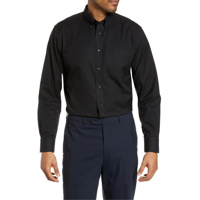NORDSTROM MEN'S SHOP ドレス SMARTCARE?< SUP> 【 TRADITIONAL FIT PINPOINT DRESS SHIRT BLACK ROCK 】 メンズファッション トップス カジュアルシャツ 送料無料