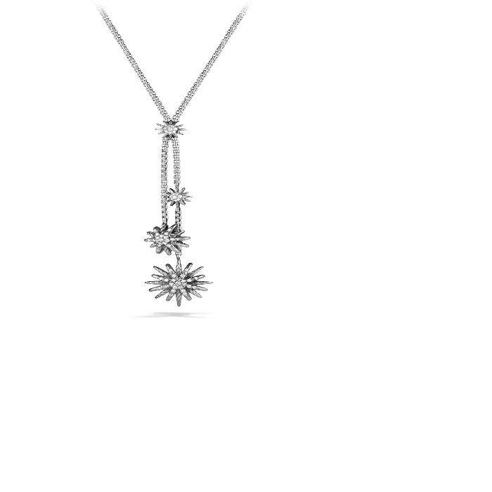 【海外限定】ネックレス 'STARBURST' ジュエリー ペンダント 【 Y NECKLACE WITH DIAMONDS 】