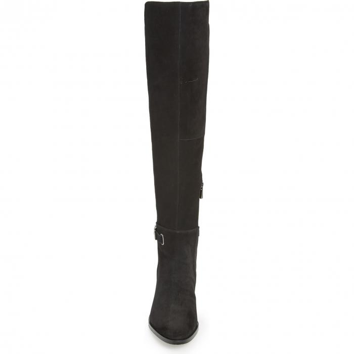 WONDERS ブーツ レディース 【 Over The Knee Stretch Boot 】 Black Suede