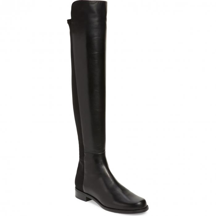 豪奢な STUART WEITZMAN レザー 【 5050 OVER THE KNEE LEATHER BOOT BLACK NAPPA STRETCH 】 送料無料, コリョウチョウ f06f3c57