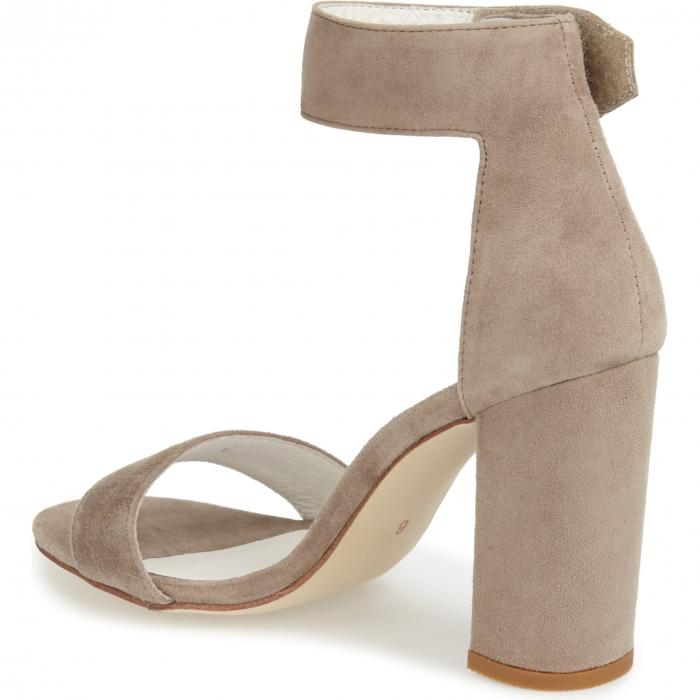 JEFFREY CAMPBELL ストラップ 【 LINDSAY ANKLE STRAP SANDAL TAUPE SUEDE 】 送料無料