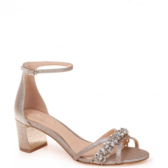 【スーパーセール商品 12/4-12/11】JEWEL BADGLEY MISCHKA 【 GIONA SANDAL GOLD GLITTER 】 送料無料