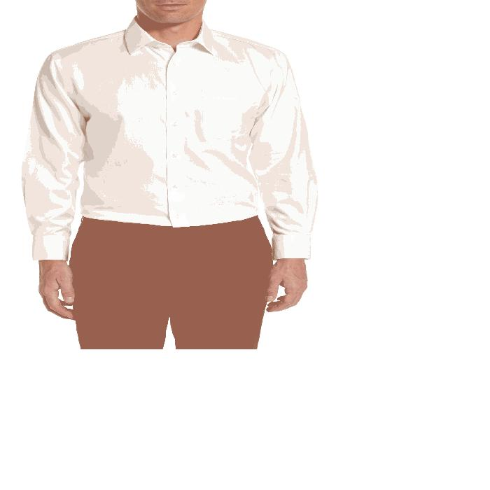 NORDSTROM MEN'S SHOP メンズ ドレス Smartcare Traditional Fit Herringbone Dress Shirt 】 White