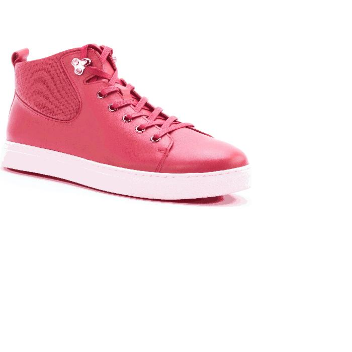 BADGLEY MISCHKA COLLECTION スニーカー 【 SANDERS SNEAKER RED LEATHER 】 メンズ 送料無料
