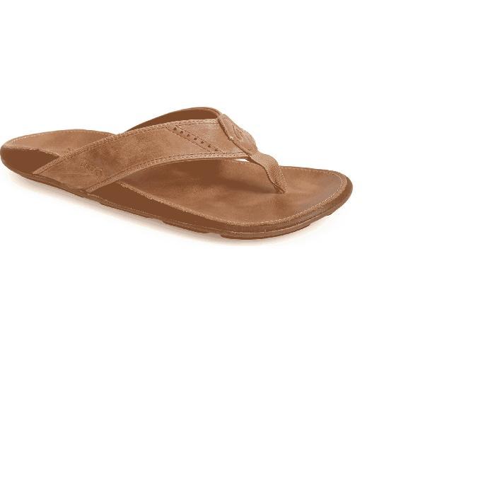【海外限定】レザー 'NUI' 靴 メンズ靴 【 LEATHER FLIP FLOP 】【送料無料】