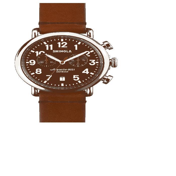 【海外限定】レザー ストラップ 'THE CHRONO' WATCH, レディース腕時計 腕時計 【 RUNWELL LEATHER STRAP 41MM 】