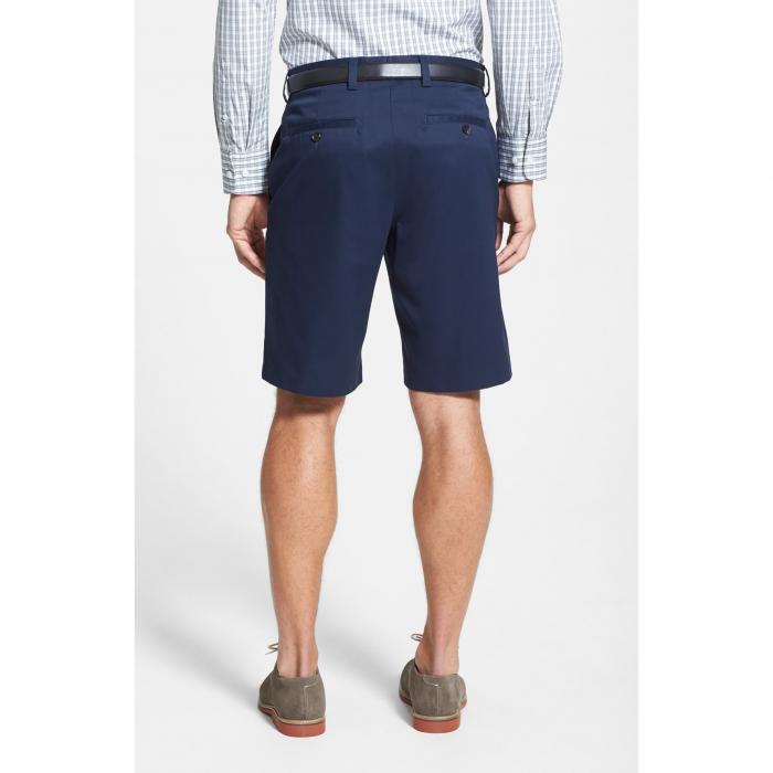 NORDSTROM MEN'S SHOP SMARTCARE?< SUP> 【 FLAT FRONT SHORTS NAVY 】 メンズファッション ズボン パンツ 送料無料