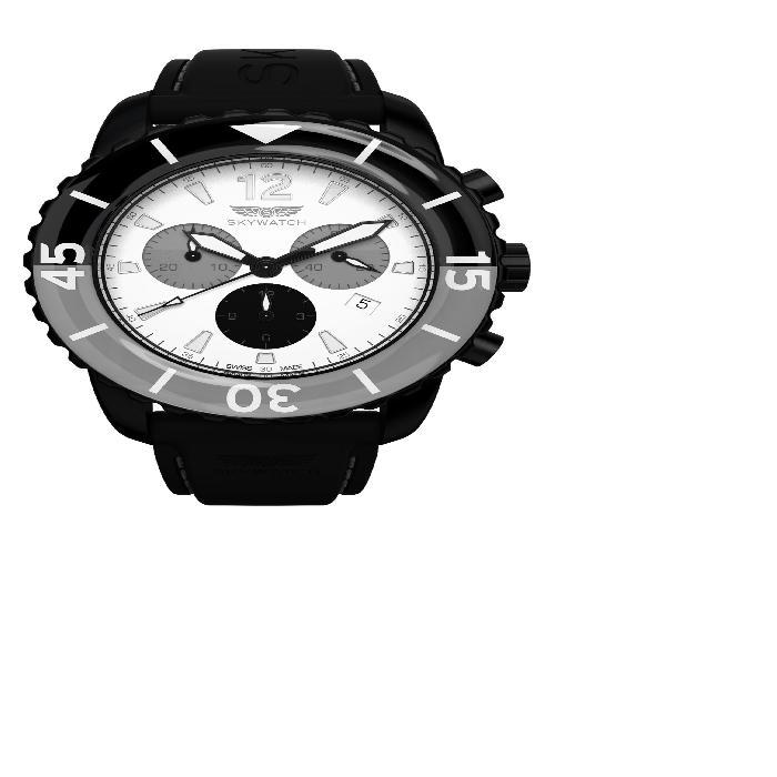【海外限定】クラシック ストラップ WATCH, メンズ腕時計 腕時計 【 CLASSIC CHRONOGRAPH SILICONE STRAP 44MM 】