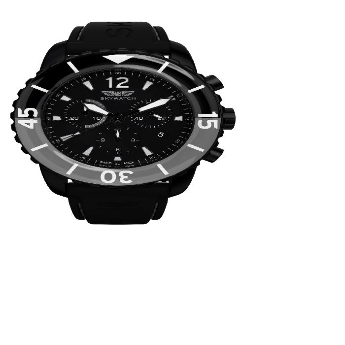 【海外限定】クラシック ストラップ WATCH, 腕時計 メンズ腕時計 【 CLASSIC CHRONOGRAPH SILICONE STRAP 44MM 】