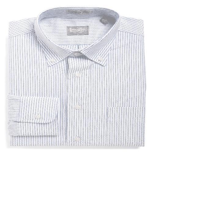 【海外限定】ストライプ ドレス 'CAMBRIDGE OXFORD' トップス ワイシャツ 【 STRIPE REGULAR FIT DRESS SHIRT 】