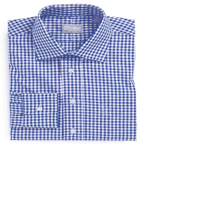 【海外限定】ドレス ワイシャツ メンズファッション 【 REGULAR FIT COTTON GINGHAM ENGLISH SPREAD COLLAR DRESS SHIRT 】