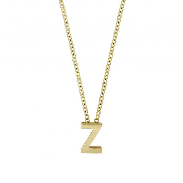 BONY LEVY 【 INITIAL PENDANT NECKLACE YELLOW GOLD Z 】 ジュエリー アクセサリー レディースジュエリー 送料無料