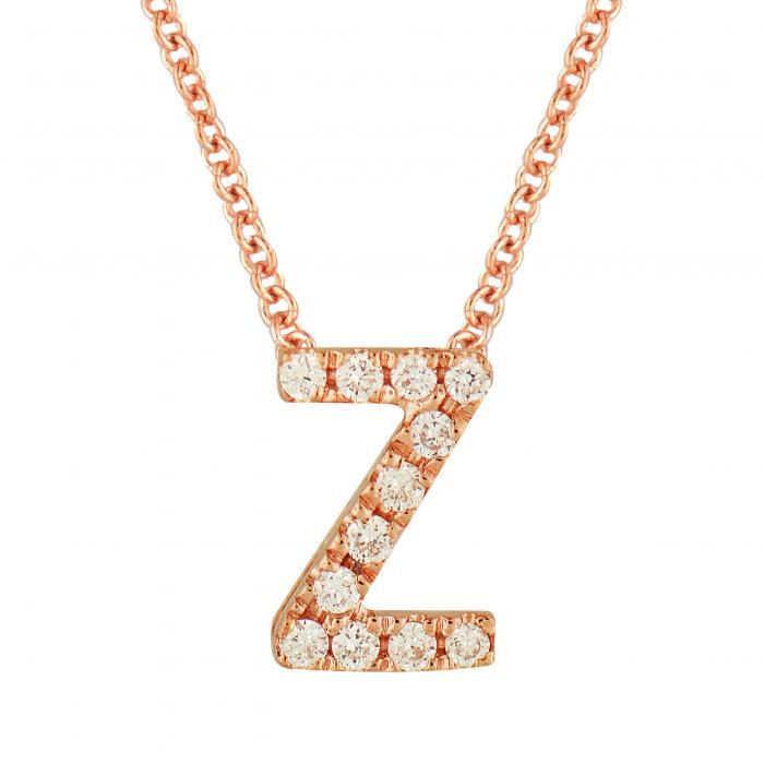 BONY LEVY ダイヤモンド PAV? 【 18K GOLD DIAMOND INITIAL PENDANT NECKLACE ROSE Z 】 ジュエリー アクセサリー レディースジュエリー 送料無料
