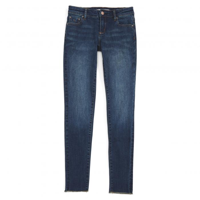 TRACTR キッズ ベビー マタニティ ボトムス レディース 【 Fray Hem Skinny Jeans 】 Indigo
