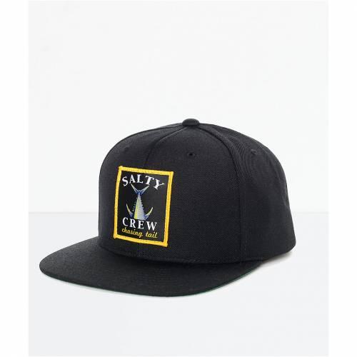 ファッションブランド 全国一律送料無料 カジュアル ファッション ソルティークルー SALTY CREW クルー 黒色 ブラック 希少 スナップバック TAIL 帽子 HAT CHASING BLACK PATCH SNAPBACK キャップ メンズキャップ バッグ