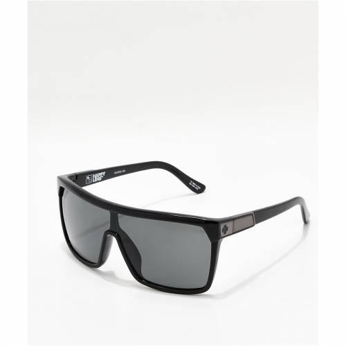 全品最安値に挑戦 ファッションブランド カジュアル ファッション アクセサリー 公式通販 SPY 黒色 ブラック サングラス GLOSS HAPPY LENS MATTE BLACK バッグ SUNGLASSES GREYGREEN FLYNN 眼鏡