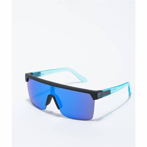 <title>ファッションブランド カジュアル ファッション アクセサリー SPY 黒色 信託 ブラック 青色 ブルー サングラス FLYNN 5050 SOFT MATTE BLACK BLUE SUNGLASSES バッグ 眼鏡</title>