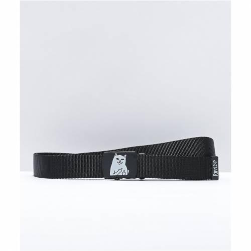ファッションブランド カジュアル OUTLET SALE ファッション アクセサリー リップンディップ RIPNDIP 黒色 ブラック サスペンダー 送料無料新品 BELT BLACK バッグ LORD ベルト NERMAL