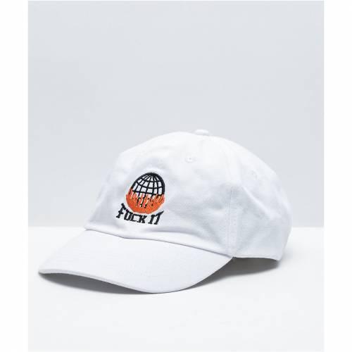 ファッションブランド カジュアル ファッション キャップ ハット THE ARTIST COLLECTIVE 白色 帽子 バッグ チープ PANIC WHITE DON'T HAT ホワイト [宅送] DAD メンズキャップ