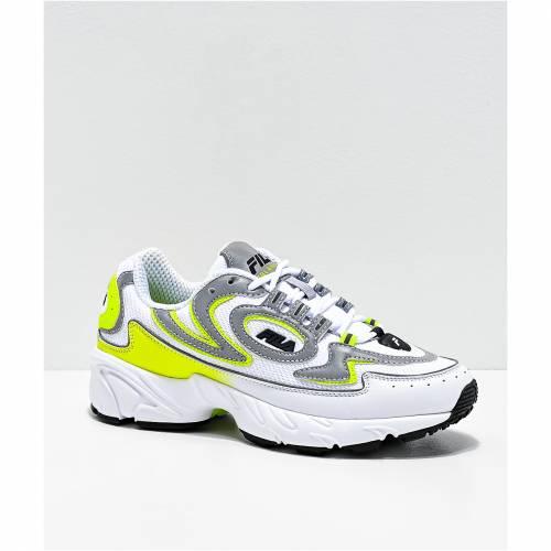<title>ファッションブランド カジュアル ファッション スニーカー フィラ FILA 白色 ホワイト 黄色 イエロー 運動靴 大特価!! YELLOW VOLANTE 98 WHITE SHOES メンズ</title>