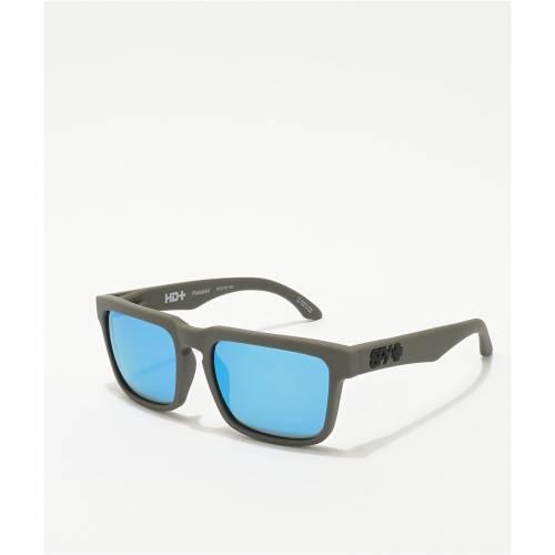 <title>ファッションブランド カジュアル ファッション アクセサリー SPY 灰色 グレー 青色 ブルー サングラス 完売 HELM SOFT MATTE DARK GREY LIGHT BLUE POLARIZED SUNGLASSES バッグ 眼鏡</title>