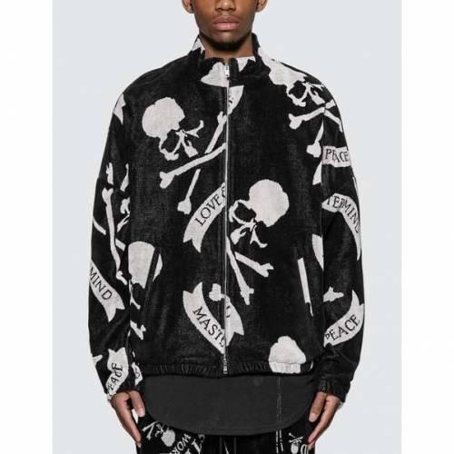 MASTERMIND WORLD ロゴ 黒 ブラック 【 BLACK MASTERMIND WORLD ALLOVER SKULL LOGO JACKET 】 メンズファッション コート ジャケット