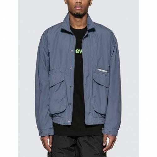 THISISNEVERTHAT 青 ブルー 【 BLUE THISISNEVERTHAT SPORTSMAN JACKET 】 メンズファッション コート ジャケット