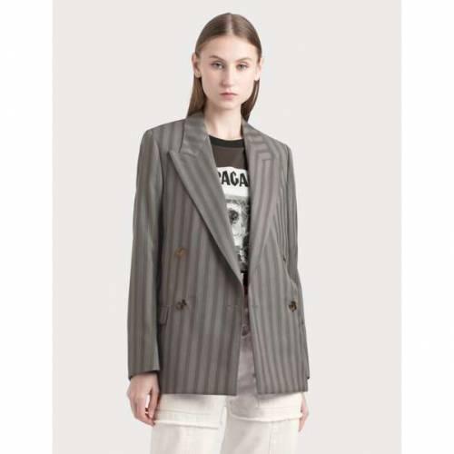 ACNE STUDIOS レディース 【 Double-breasted Pinstripe Jacket 】 Light Grey