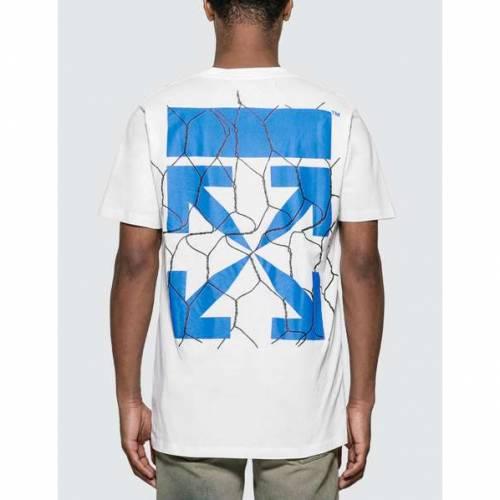 OFF-WHITE Tシャツ 白 ホワイト 【 WHITE OFFWHITE FENCE ARROWS TSHIRT 】 メンズファッション トップス Tシャツ カットソー