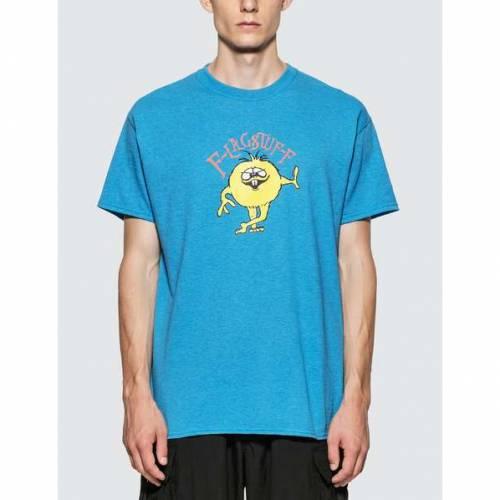 FLAGSTUFF Tシャツ 【 FLAGSTUFF MONSTER TSHIRT SAX 】 メンズファッション トップス Tシャツ カットソー