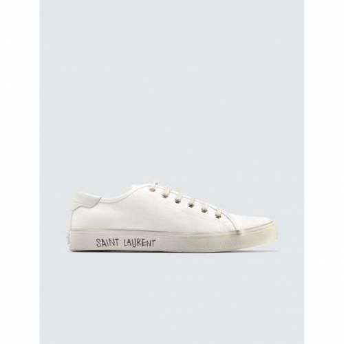 SAINT LAURENT マリブ 白 ホワイト スニーカー 【 WHITE SAINT LAURENT MALIBU LOW TOP SNEAKER 】 メンズ スニーカー