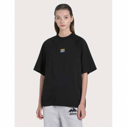 MSGM ロゴ Tシャツ 黒 ブラック 【 BLACK MSGM SMALL LOGO TSHIRT 】 レディースファッション トップス Tシャツ カットソー
