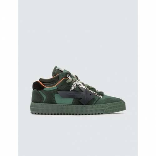 OFF-WHITE カウント 緑 グリーン スニーカー 【 GREEN OFFWHITE OFF COURT LOW SNEAKERS DARK 】 メンズ スニーカー