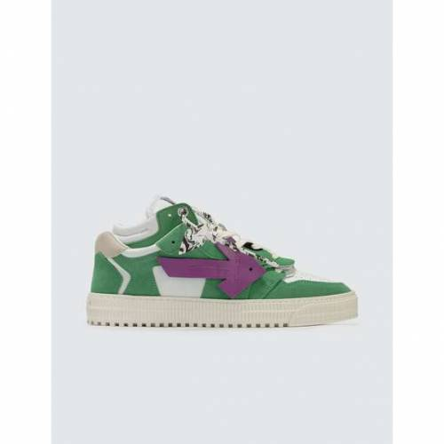 OFF-WHITE カウント 緑 グリーン 紫 パープル スニーカー 【 GREEN PURPLE OFFWHITE OFF COURT LOW SNEAKERS 】 メンズ スニーカー
